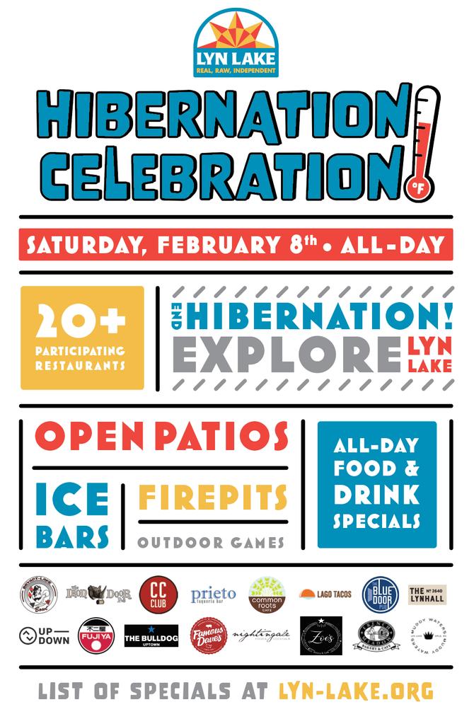 Join us for the Lyn-Lake Hibernation Celebration on February 8!