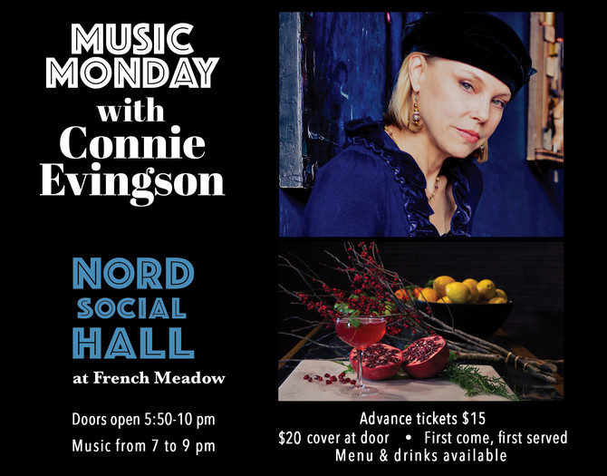 Music Mondays with Connie Evingson at  Nord Social Hall - October Updates!