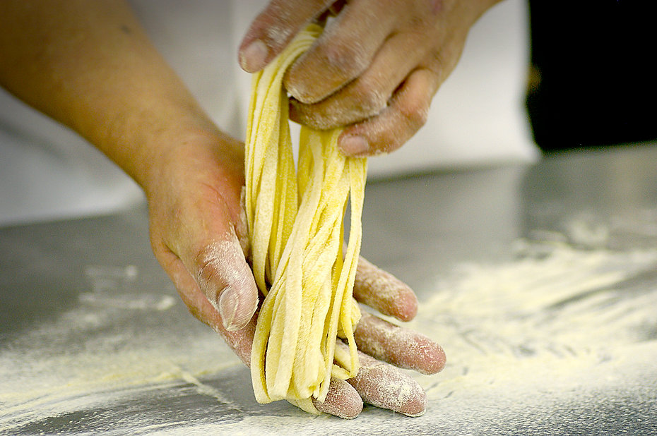 Hand-rolled pasta at French Meadow Cafe Minnesota