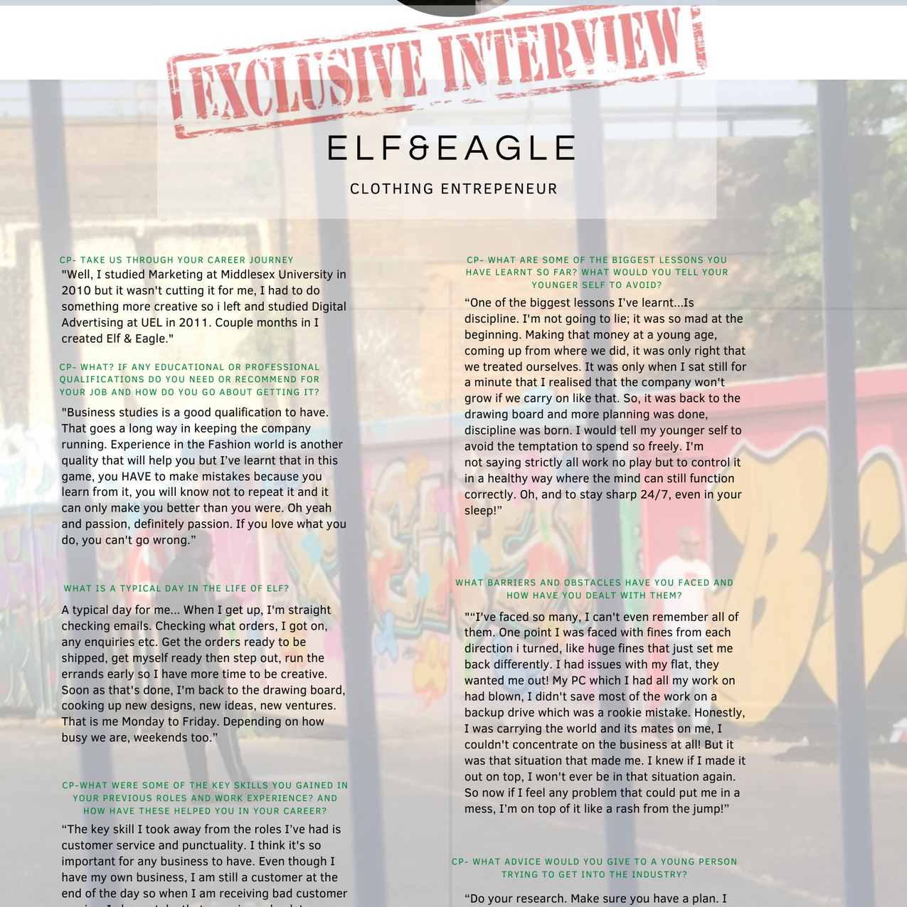 Interview with Elf&Eagle CEO