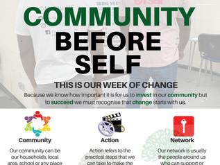 Community Before Self Week as part of Community. Action. Network