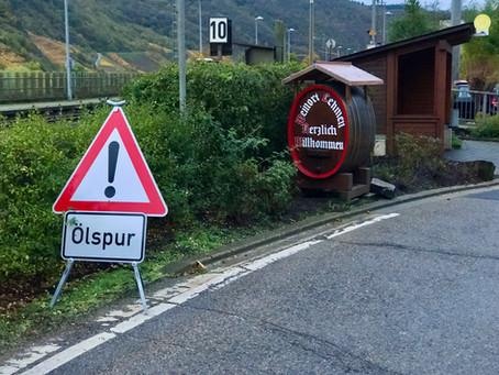 10 Gefahrguteinsatz - Ölspur in den Ortslagen Lehmen und Moselsürsch