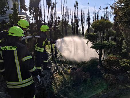 09 Brand einer Hecke im Garten