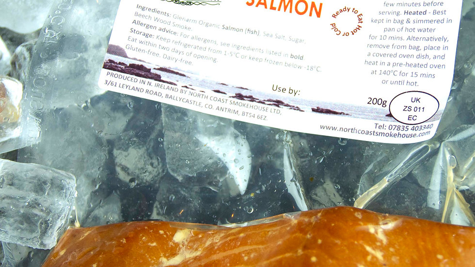 Double Pack Smoke-Roasted Organic Salmon, 200g