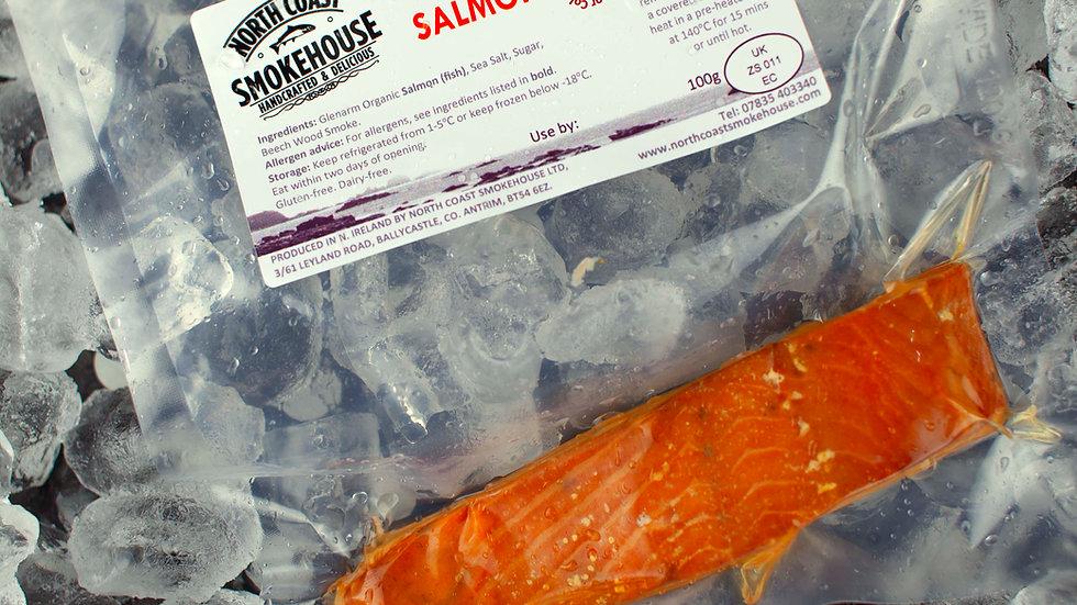 Single Pack Smoke-Roasted Organic Salmon, 100g
