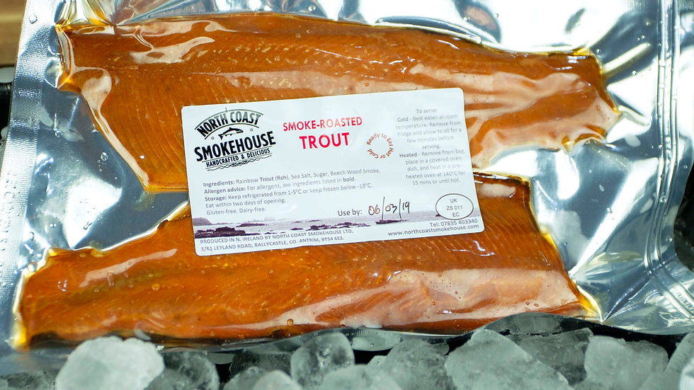 Double Pack Smoke-Roasted Trout, (min 200g)