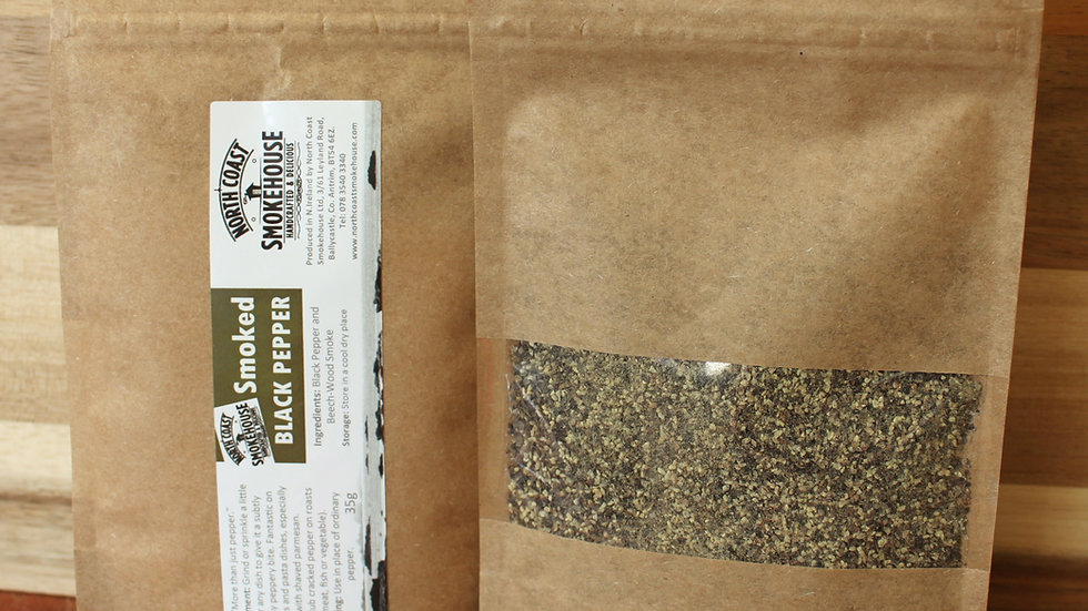 Smoked Black Pepper 35g (zip lock pouch - facilitating socially distant postage)