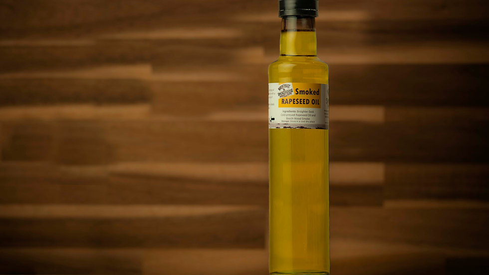 Smoked Rapeseed Oil 250ml (tall bottle)