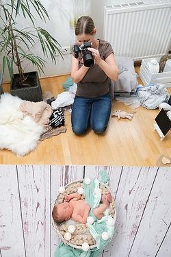 Nicole Behind the Scenes Baby Fotografie