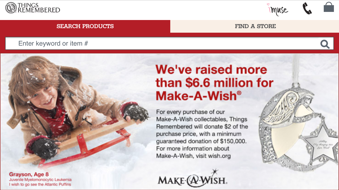 Make-A-Wish/Things Remembered