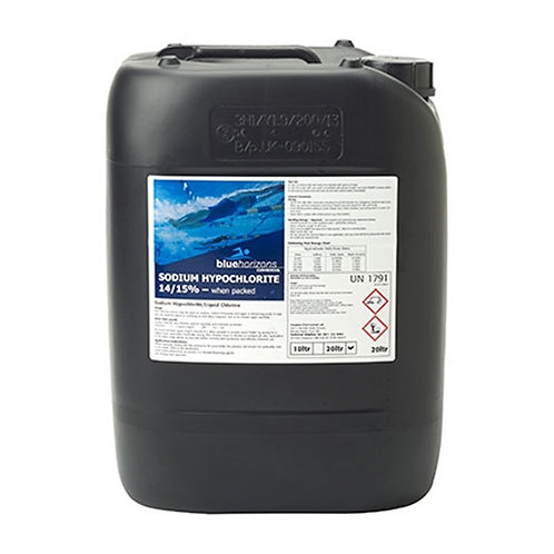 Blue Horizons - 14/15% Sodium Hypochlorite with Anti-Scale -  20 Litres