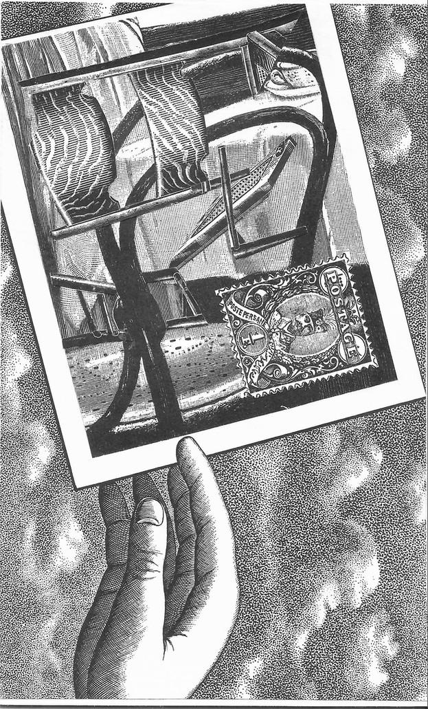 """""""Hasta hoy en día Naturaleza muerta con silla, de 1912, ha sido considerado siempre como el primer collage, y claro que, para todos fines prácticos, esto es verdad. Sin embargo, habría que mencionar por lo menos dos excepciones: en 1911 Picasso pegó una estampilla postal italiana a una pequeña pintura suya llamada La carta, que parafrasea al estilo cubista un sobre enviado al pintor.""""  William Rubin"""