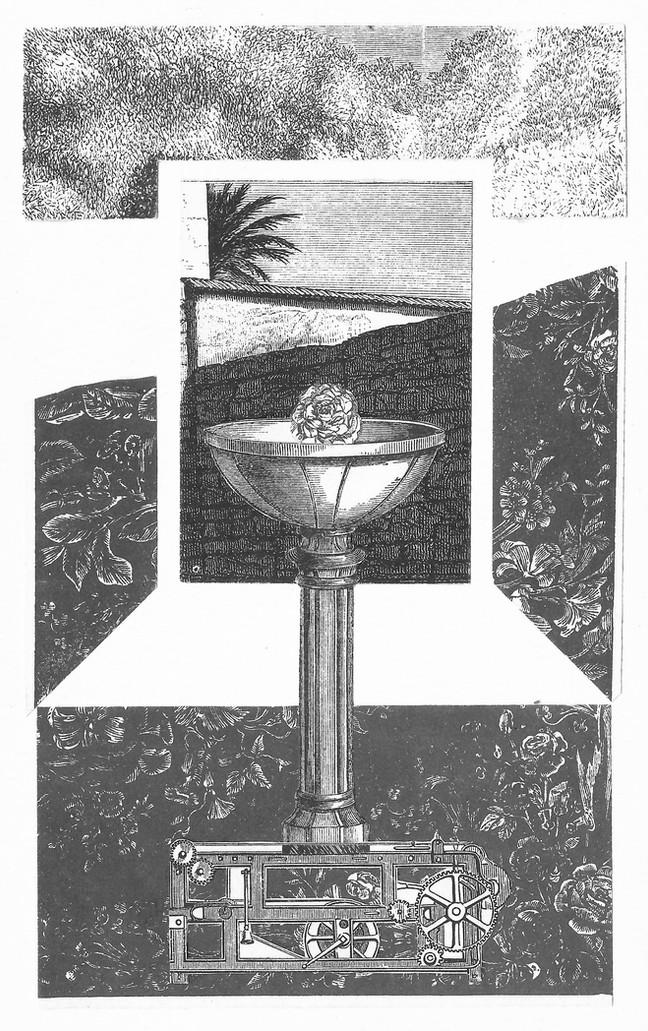 """""""El collage es un instrumento supersensible y escrupulosamente exacto, semejante a un sismógrafo, que es capaz de registrar la cantidad precisa de posibilidades que el ser humano tiene de ser feliz en cualquier momento.""""  Max Ernst"""