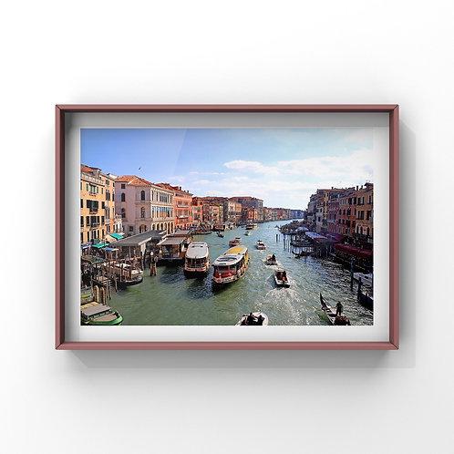 額入写真 ≪ヴェネチアの運河≫