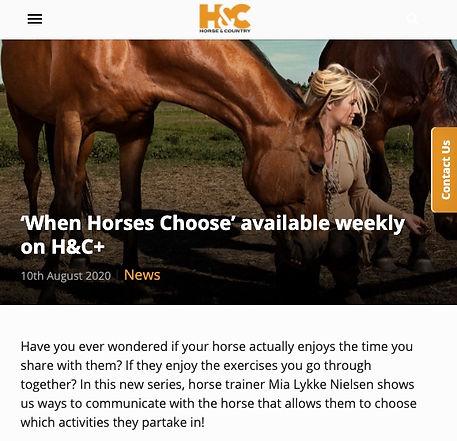 Mia Lykke Nielsen på Horse & Country TV