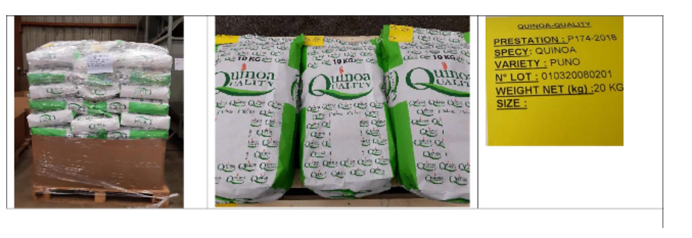 Quinoa Quality seed bags