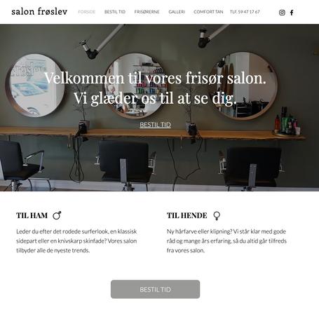 Ny hjemmeside til Salon Frøslev