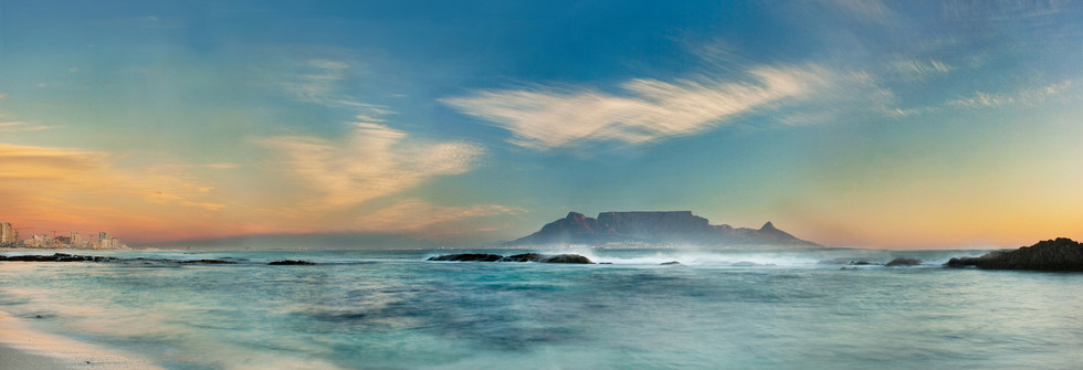 Table Mountain South Africa Panoramic Ev