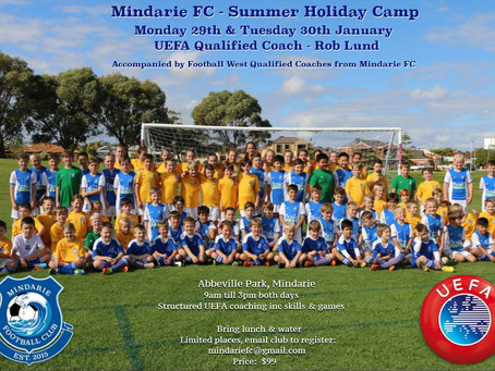 Mindarie Football Club Summer Holiday Camp
