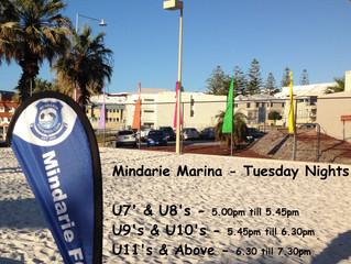 Tuesday nights soccer - starting Tuesday 10th October at Mindarie Marina