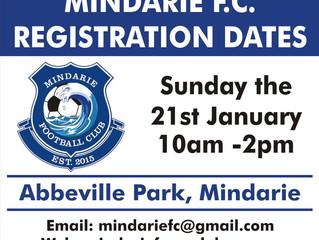 Mindarie FC Registration Dates