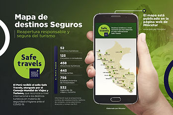 mapa Safe Travels Perú 2021