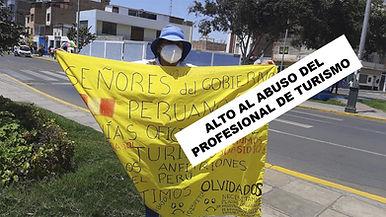 Guías de Turismo Perú protesta 2020