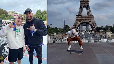 Angelo Caro y Neymar en París 2021
