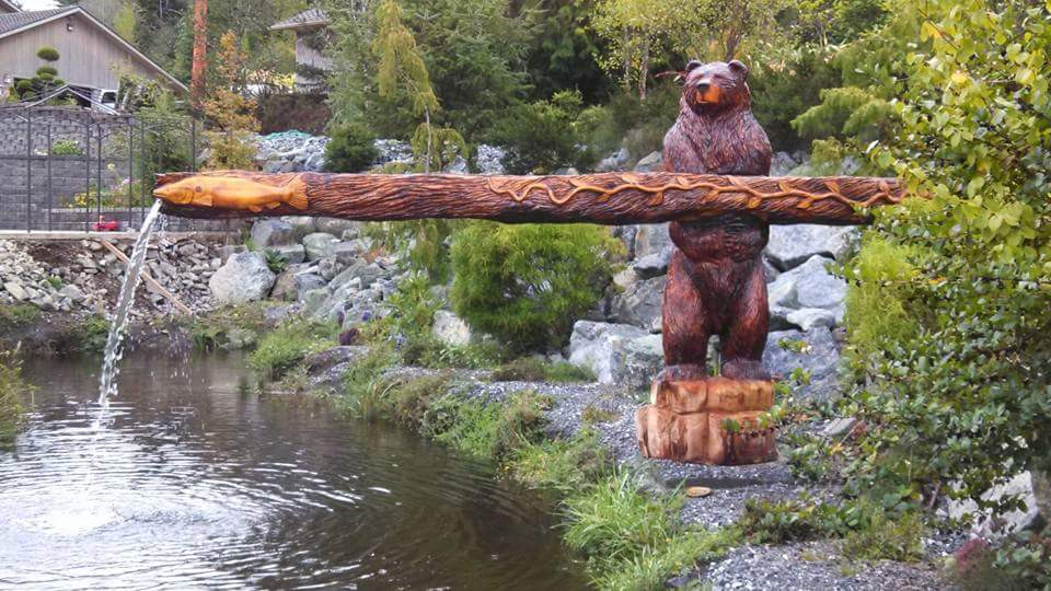 Waterfall Bear