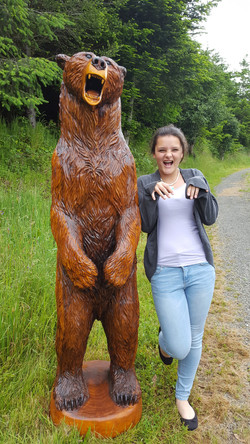 6' Growling Bear