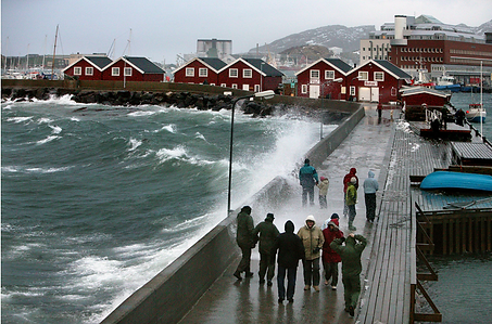 Bodø, presentado por un local