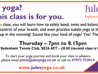 New yoga class in Sydenham