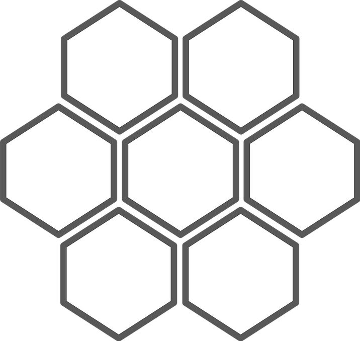 Honeycomb-6 cell grey blank.png