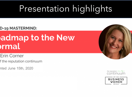 Covid-19 lessons & the new normal - Business Women Australia, June Mastermind highlights