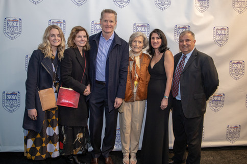 Kerr Family with Principal Andonian and Board Chairperson Harout Momjian