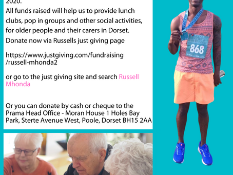 Russell Mhonda is fundraising for Prama by taking part in the Vitality Big Half on 1st March 2020.
