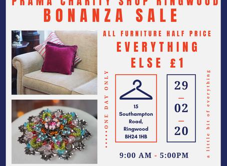 Ringwood Charity Shop Fundraiser Bonanza day! 29th Feb 2020