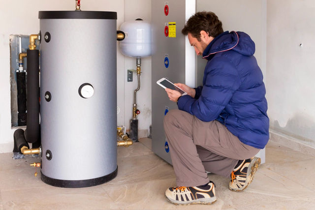 Unvented hot water maintenance