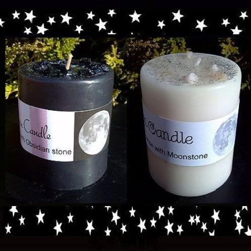 New Moon/Full Moon Candle Set
