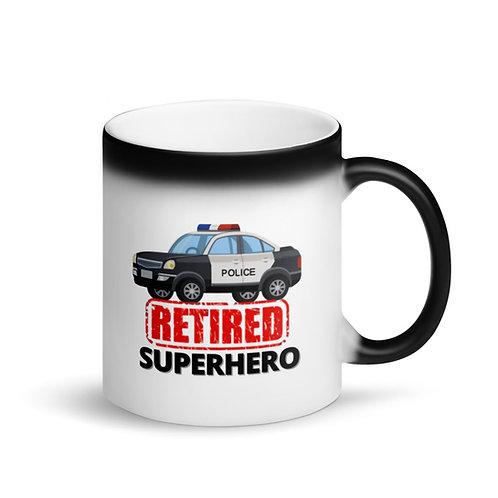 COLOUR CHANGING Mug - SUPERHERO - RETIRED POLICE