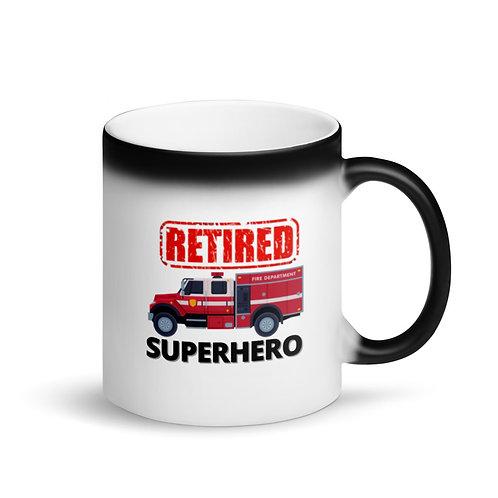 COLOUR CHANGING Mug - SUPERHERO - RETIRED FIREFIGHTER