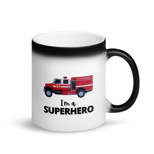 COLOUR CHANGING MUG -SUPERHERO - FIREFIGHTER