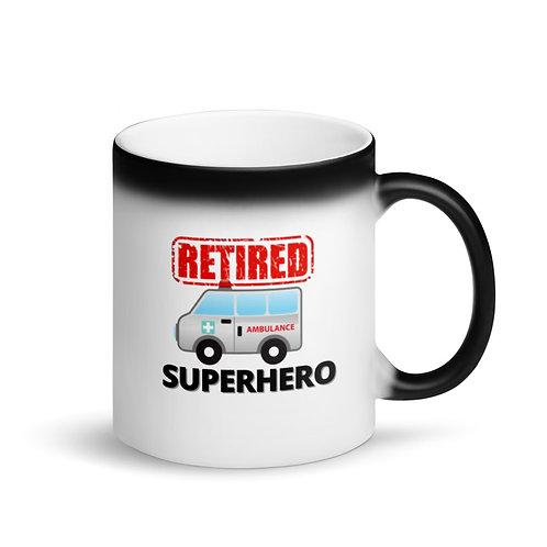 COLOUR CHANGING Mug - SUPERHERO - RETIRED AMBULANCE