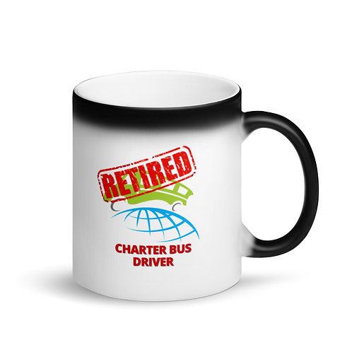 COLOUR CHANGING MUG - RETIRED CHARTER BUS DRIVER