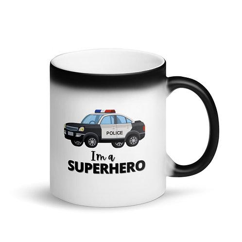 COLOUR CHANGING Mug - SUPERHERO - POLICE