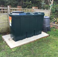 1200 litre slimline bunded oil tank