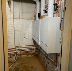 plant room install 3 boilers