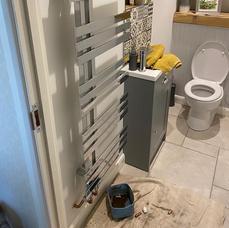 new chrome towel rail