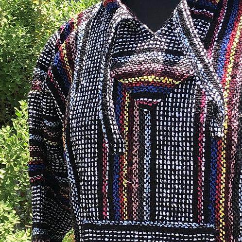Black Multi Baja Pullover - Medium
