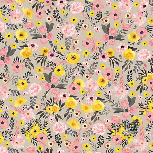 Apricot Floral Fabric